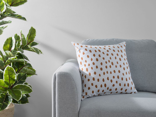 Kiara Spot Cushion Cover - Rust