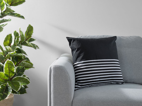 Bedford Stripe Cushion Cover - Black