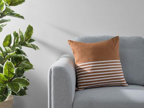 Bedford Stripe Cushion Cover - Rust