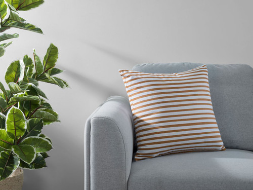Manning Stripe Cushion Cover - Rust
