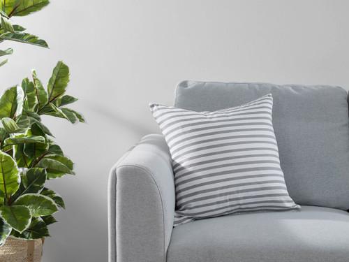 Manning Stripe Cushion Cover - Grey