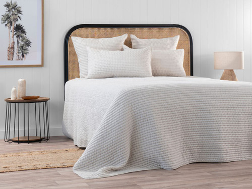 Neroli King Quilted Coverlet - Linen