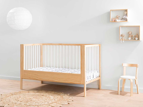 Mocka Cot Toddler Bed Conversion - Natural