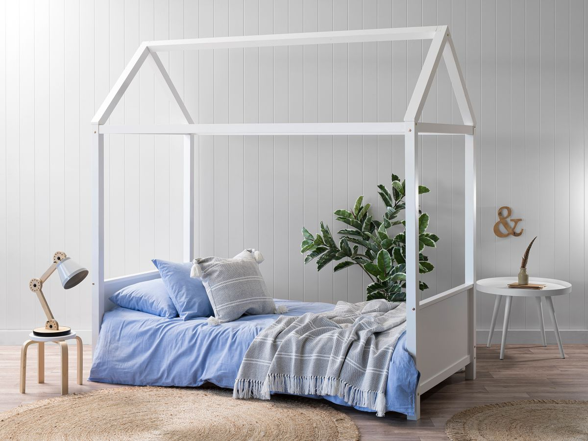 Finn House Bed - Single - White