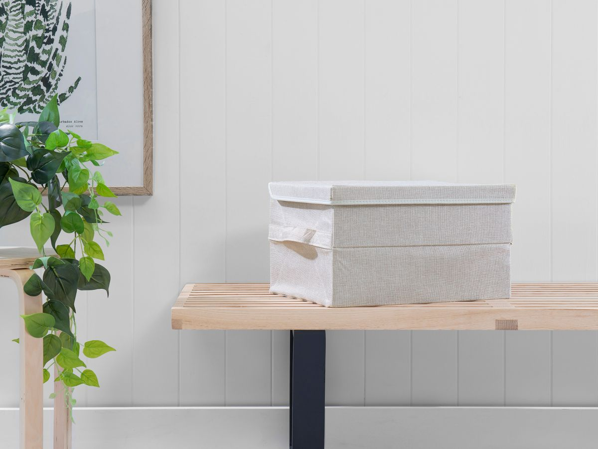 Clyde Foldable Storage Box - Taupe