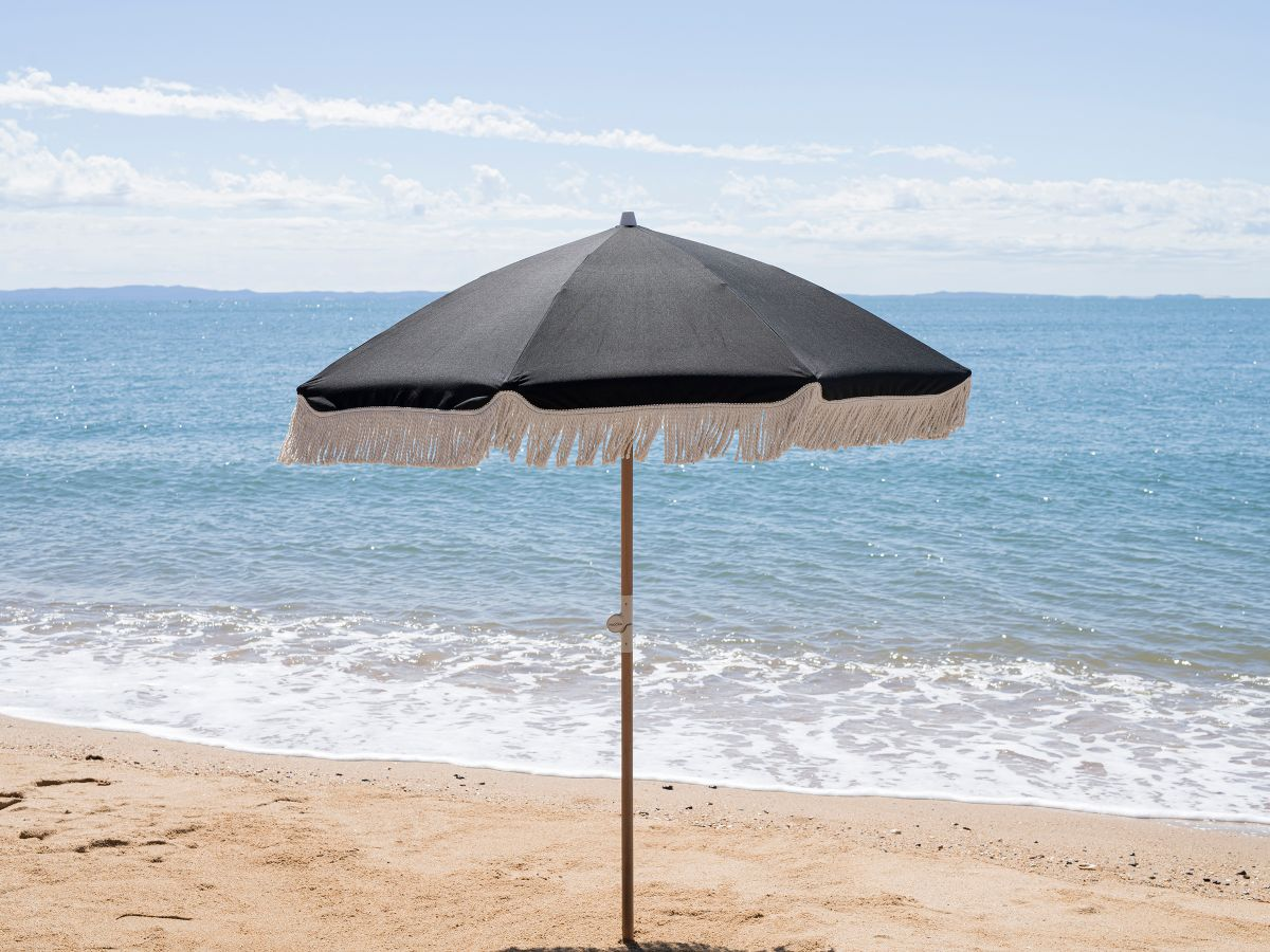 Mocka Classic Black Beach Umbrella