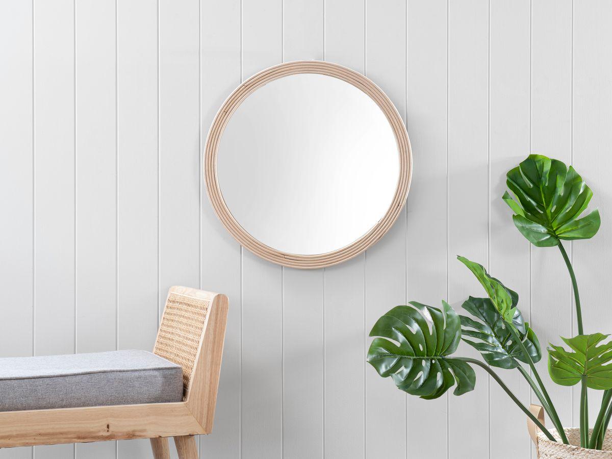 Juniper Rattan Round Mirror