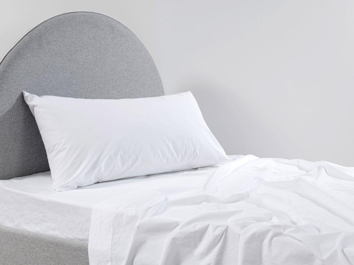 Mocka White Stonewashed Sheet Set - King Single