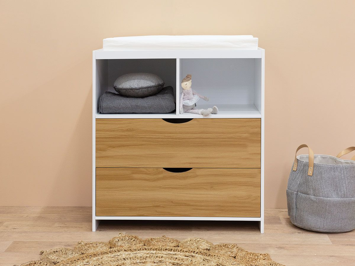 Brooklyn Change Table - White / Natural