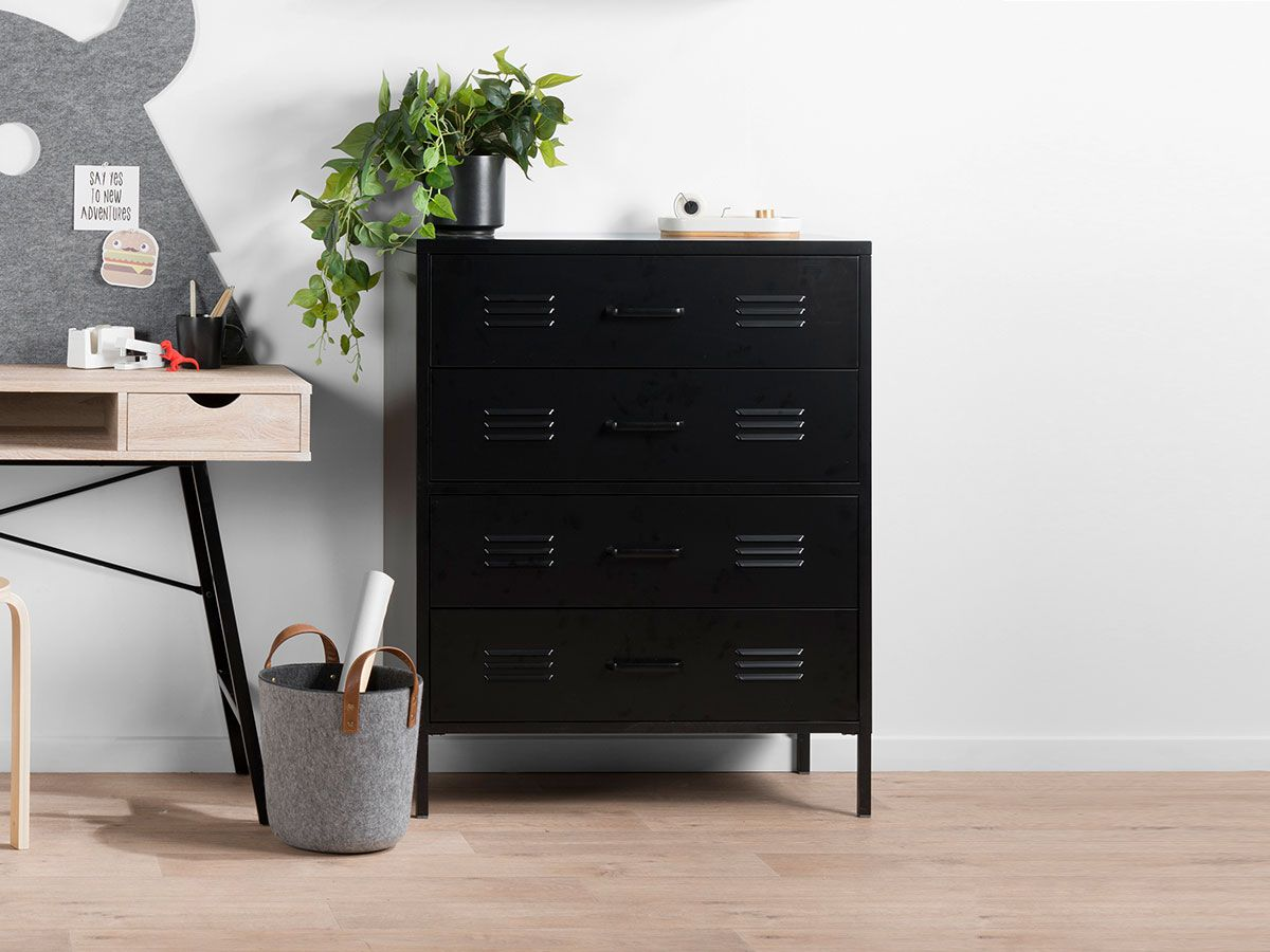 Axel Locka 4 Drawer - Black