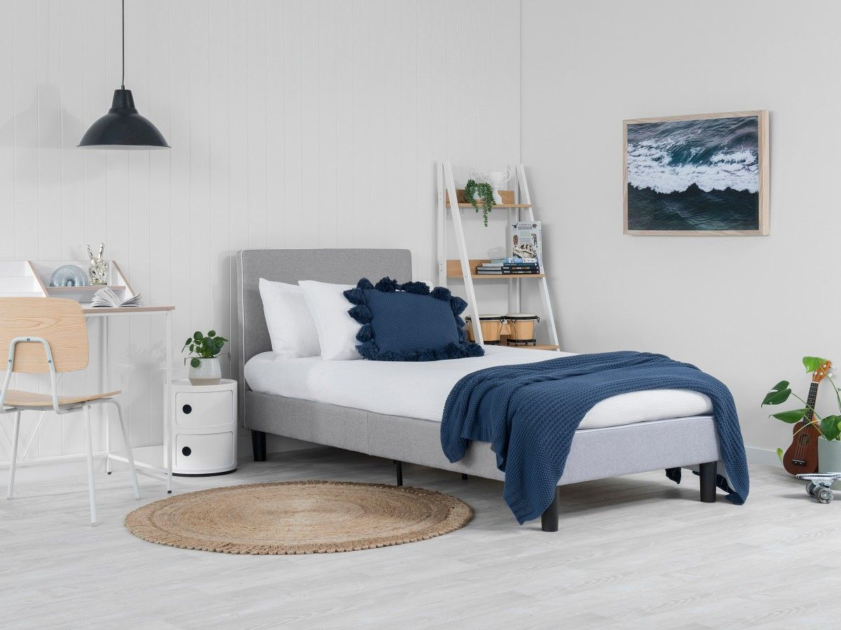 Darcy Bed - Single - Grey