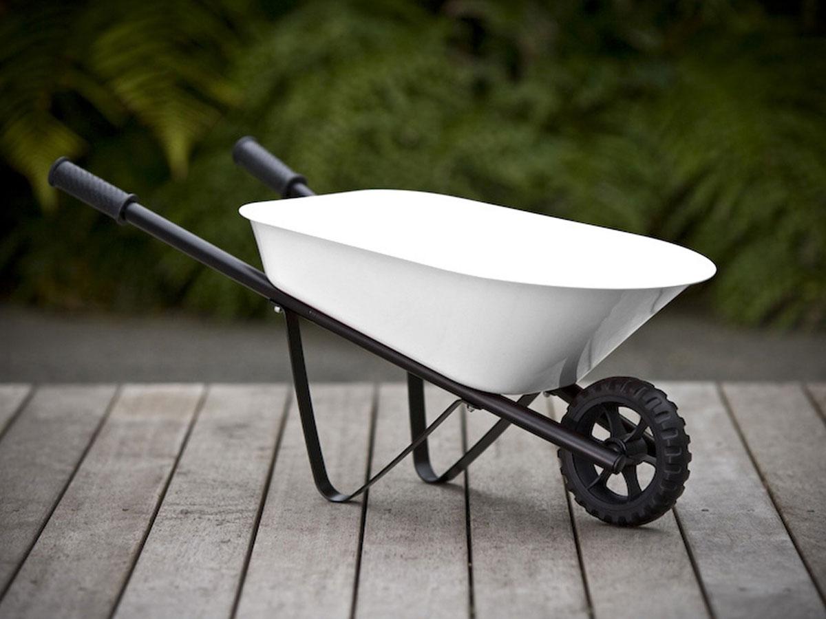 Kids Steel Wheelbarrow - White