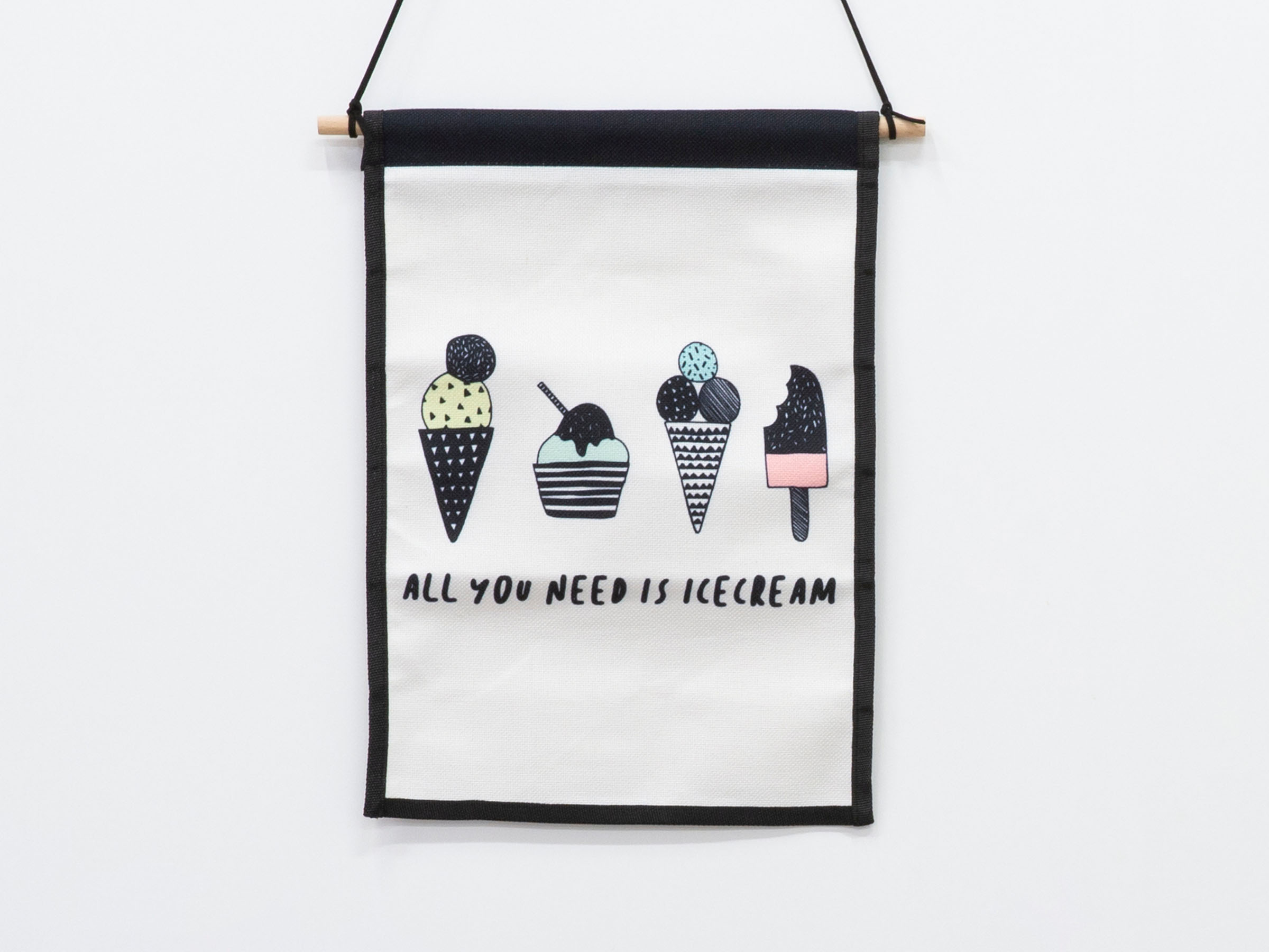 Small Wall Art Hanger - Icecream