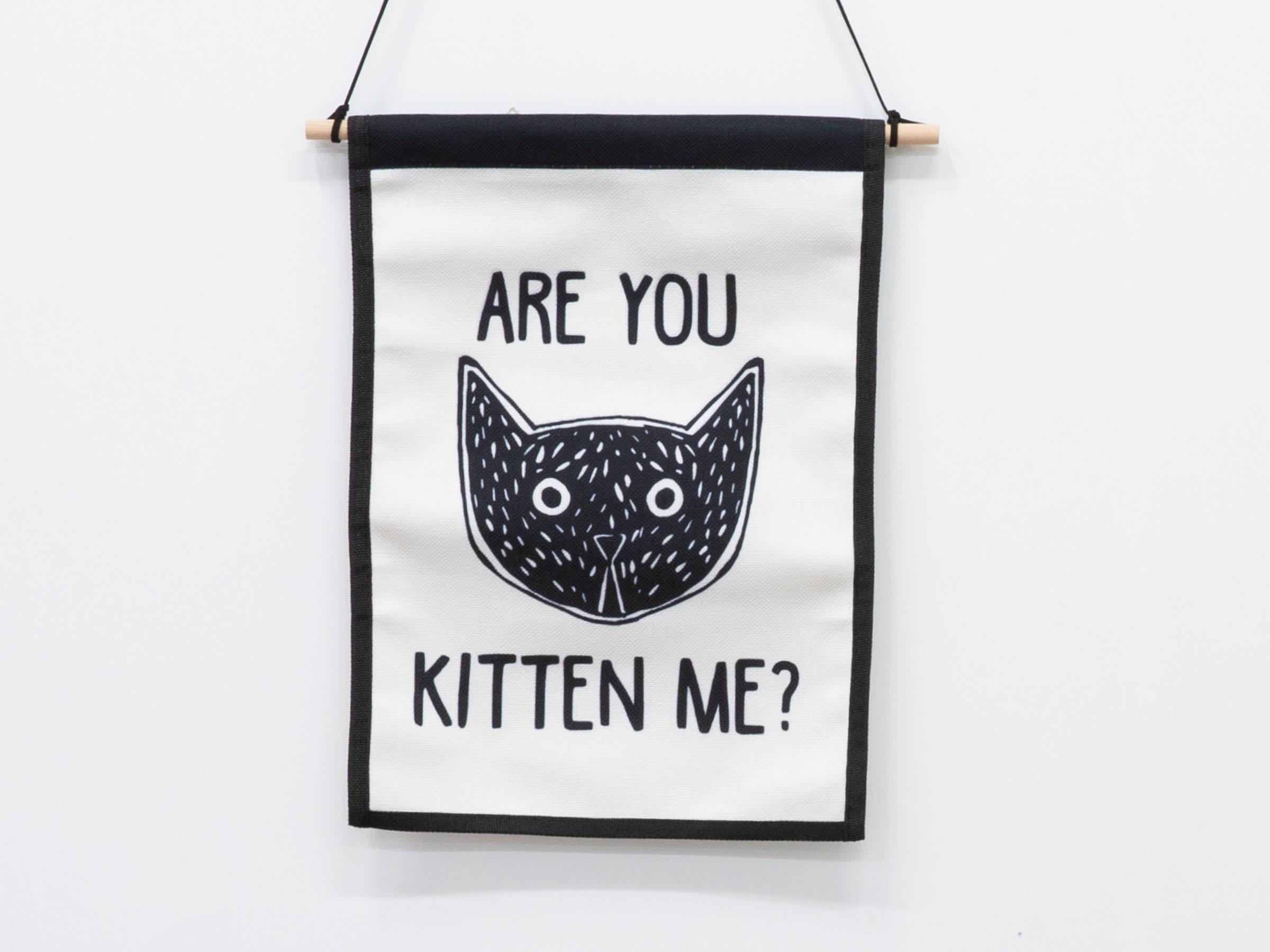 Small Wall Art Hanger - Kitten