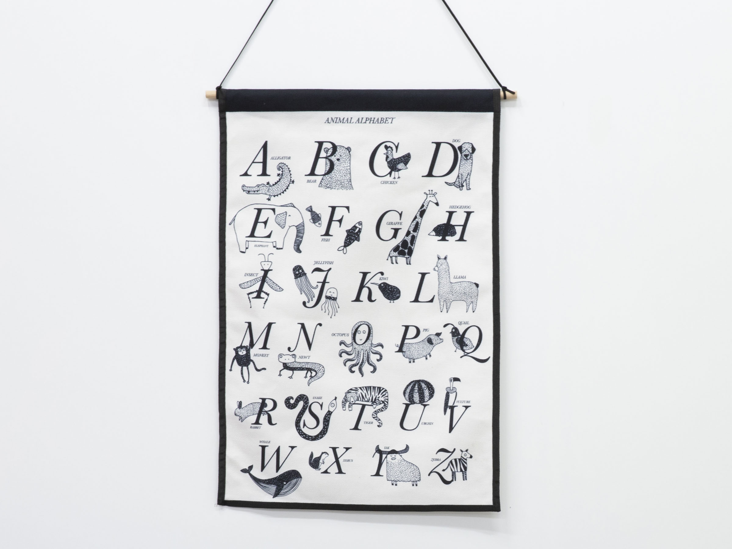 Large Wall Art Hanger - Animal Alphabet