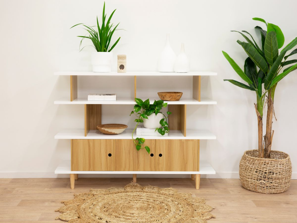 Oli Bookcase - White/Natural