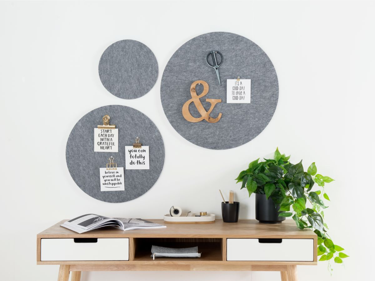 Elliot Pinboard - Set of 3 - Grey
