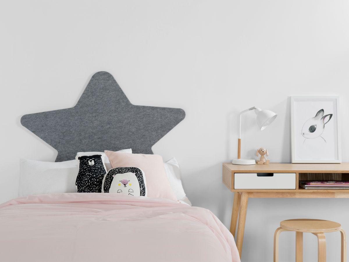 Star Felt Headboard