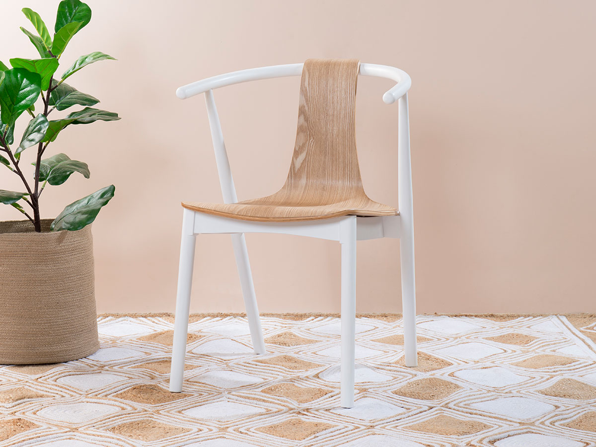 Winnie Chair - White/Natural