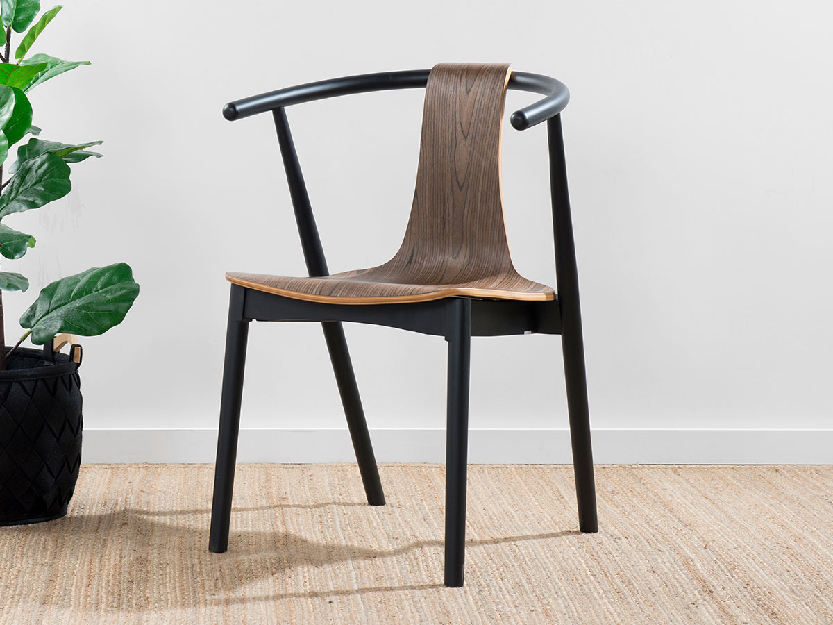 Winnie Chair - Black/Walnut
