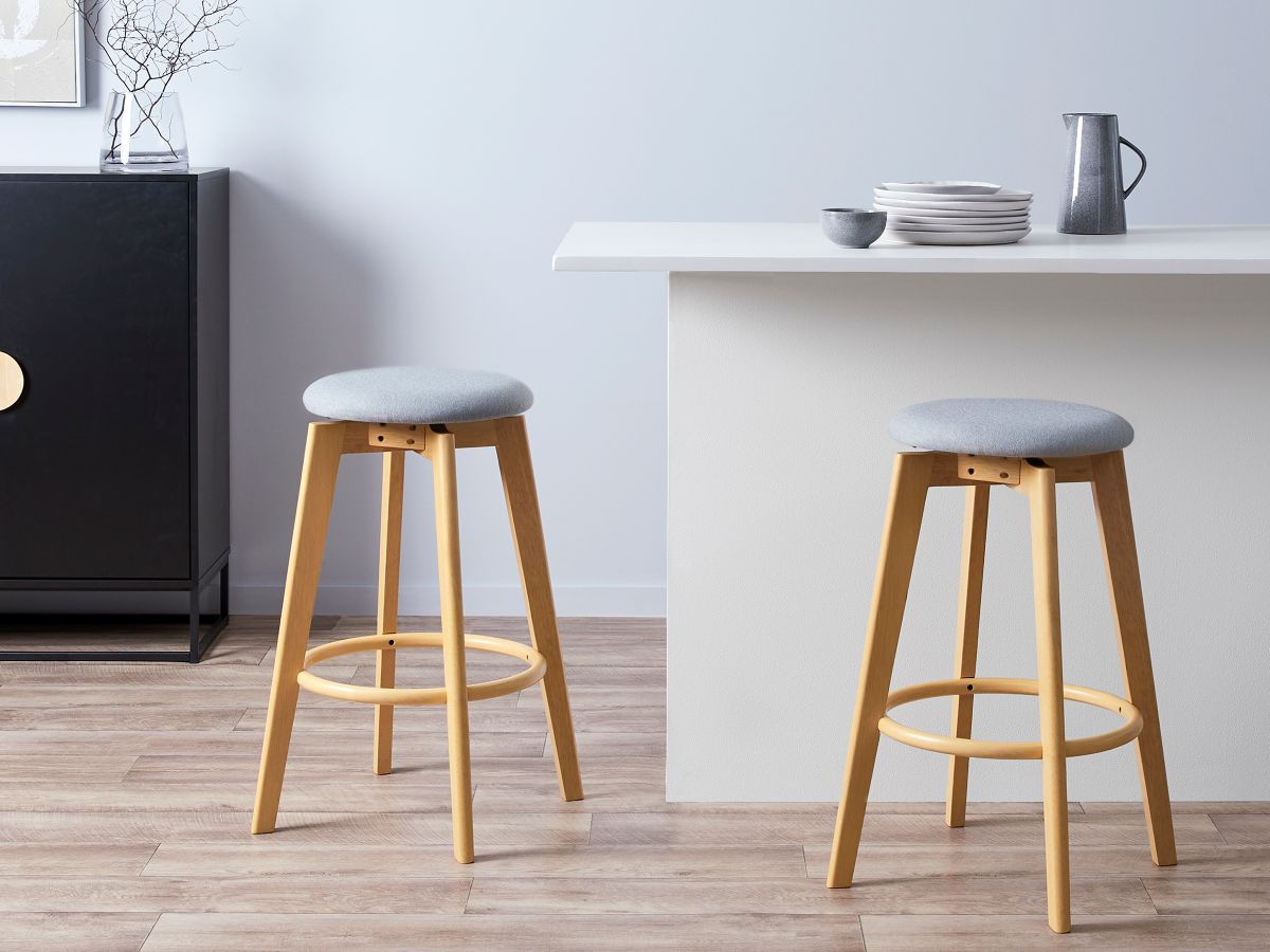 Livi Bar Stool - Light Grey