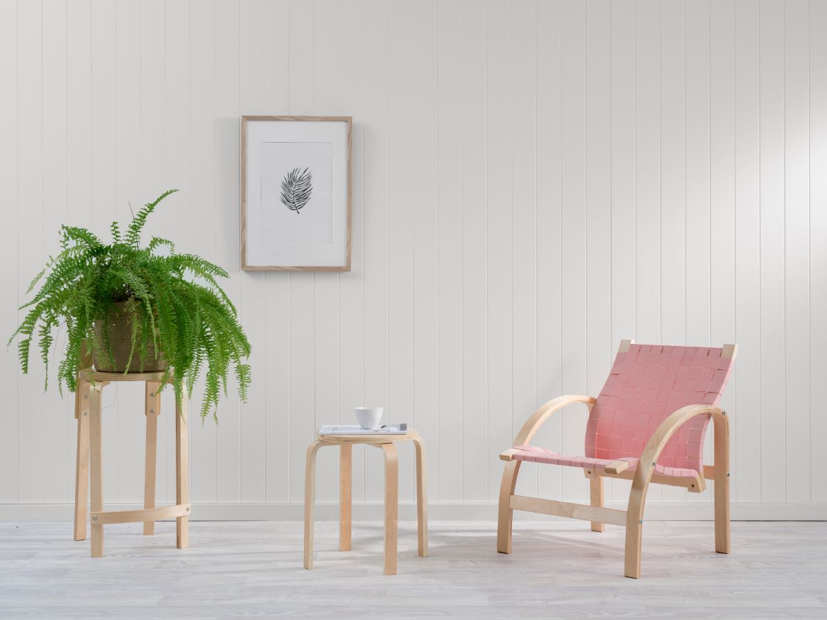 Otto Woven Chair - Pink