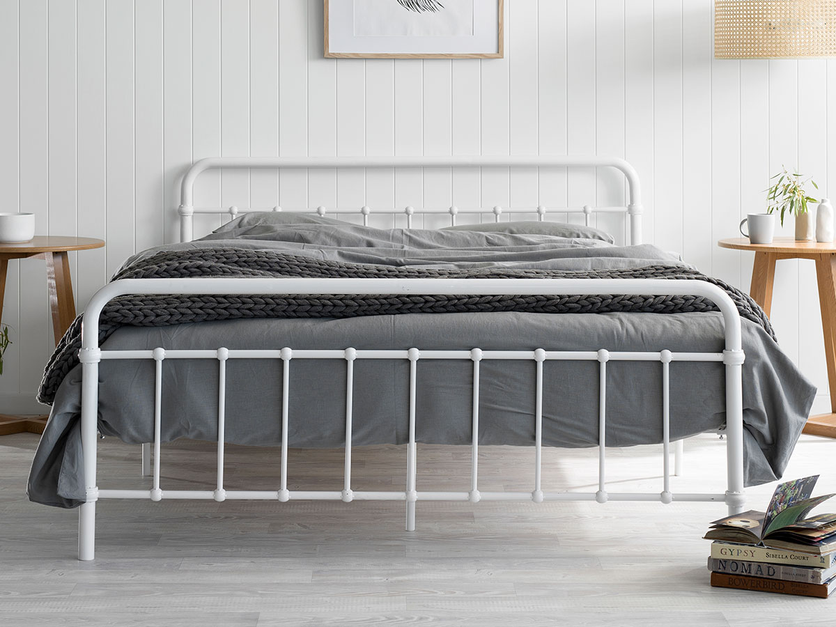 Sonata Bed Queen Bed - White