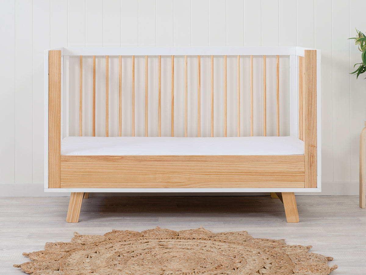 Aspen Cot Toddler Bed Conversion - Natural