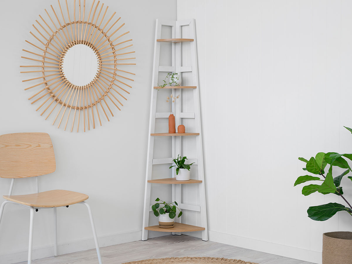 Porto Corner Shelves - White