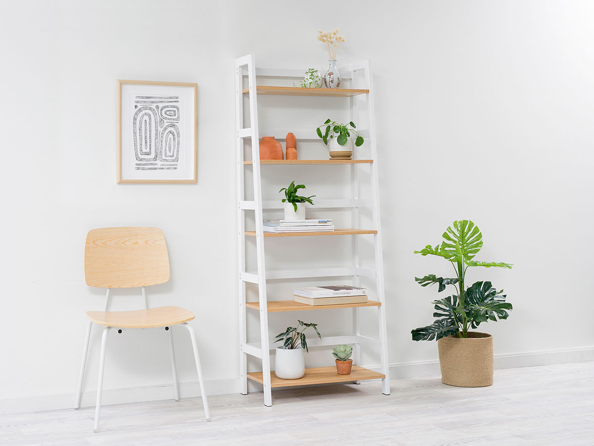 Porto Five Shelves - White