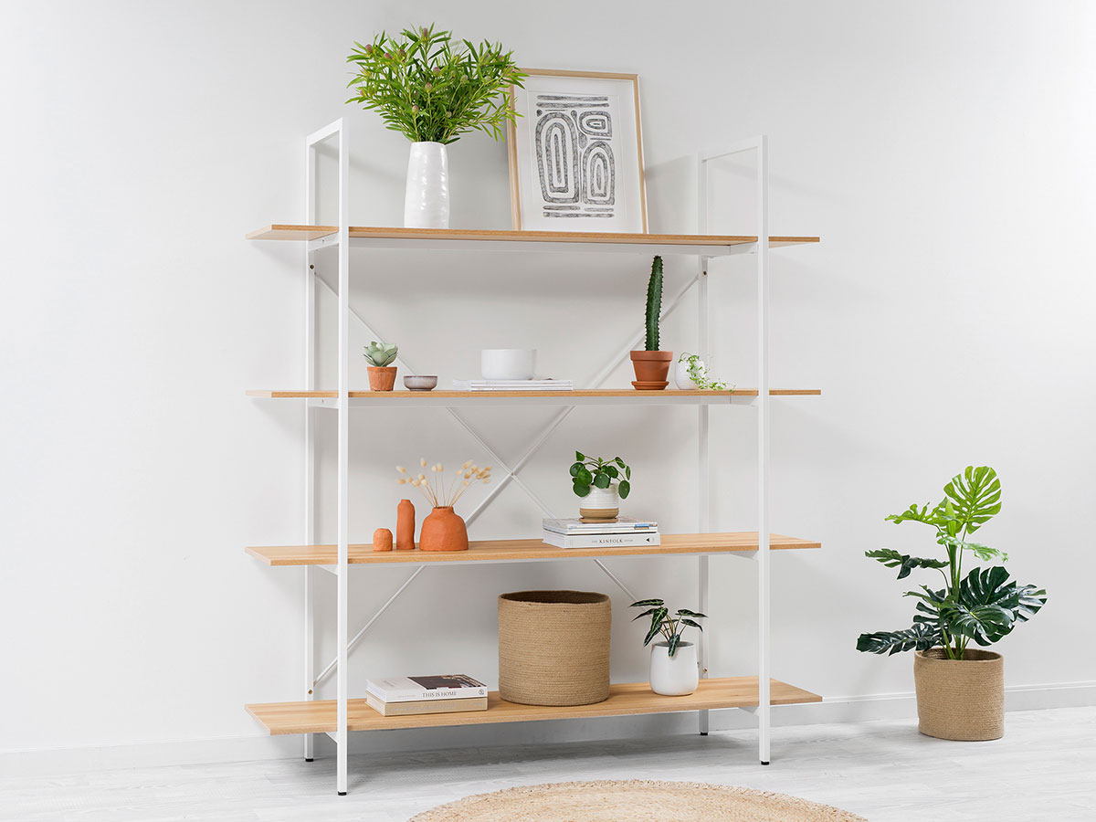 Porto Bookcase - White