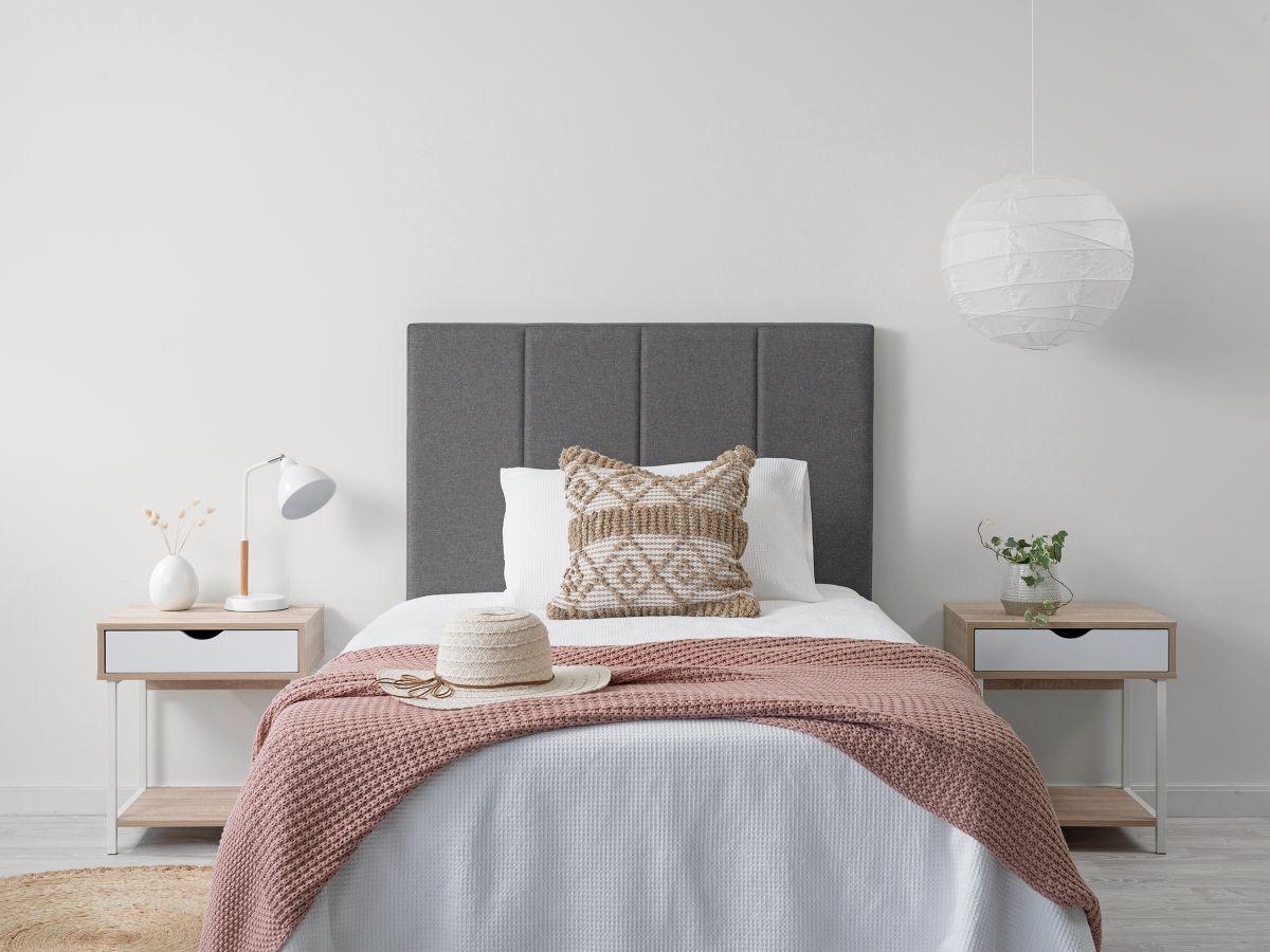 Regent Single Bedhead - Charcoal