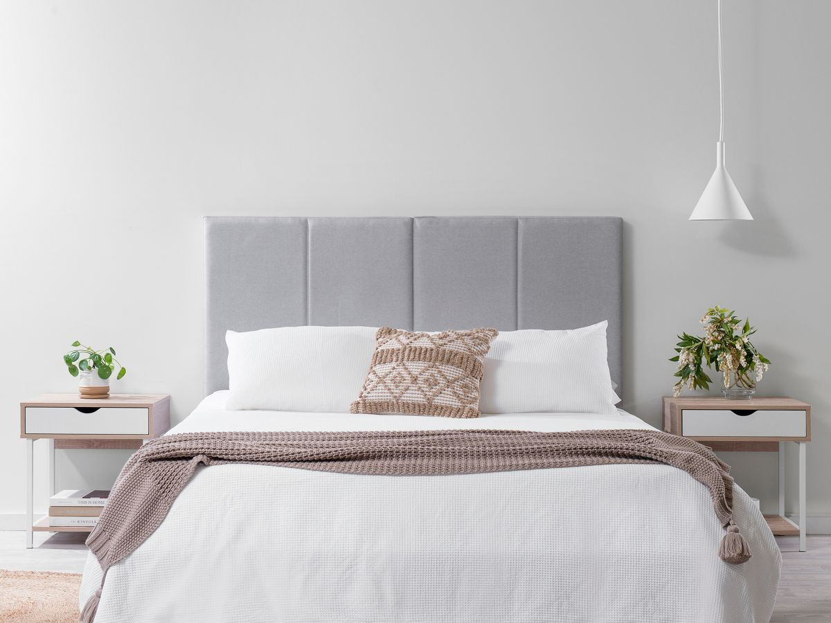Regent Queen Bedhead - Light Grey