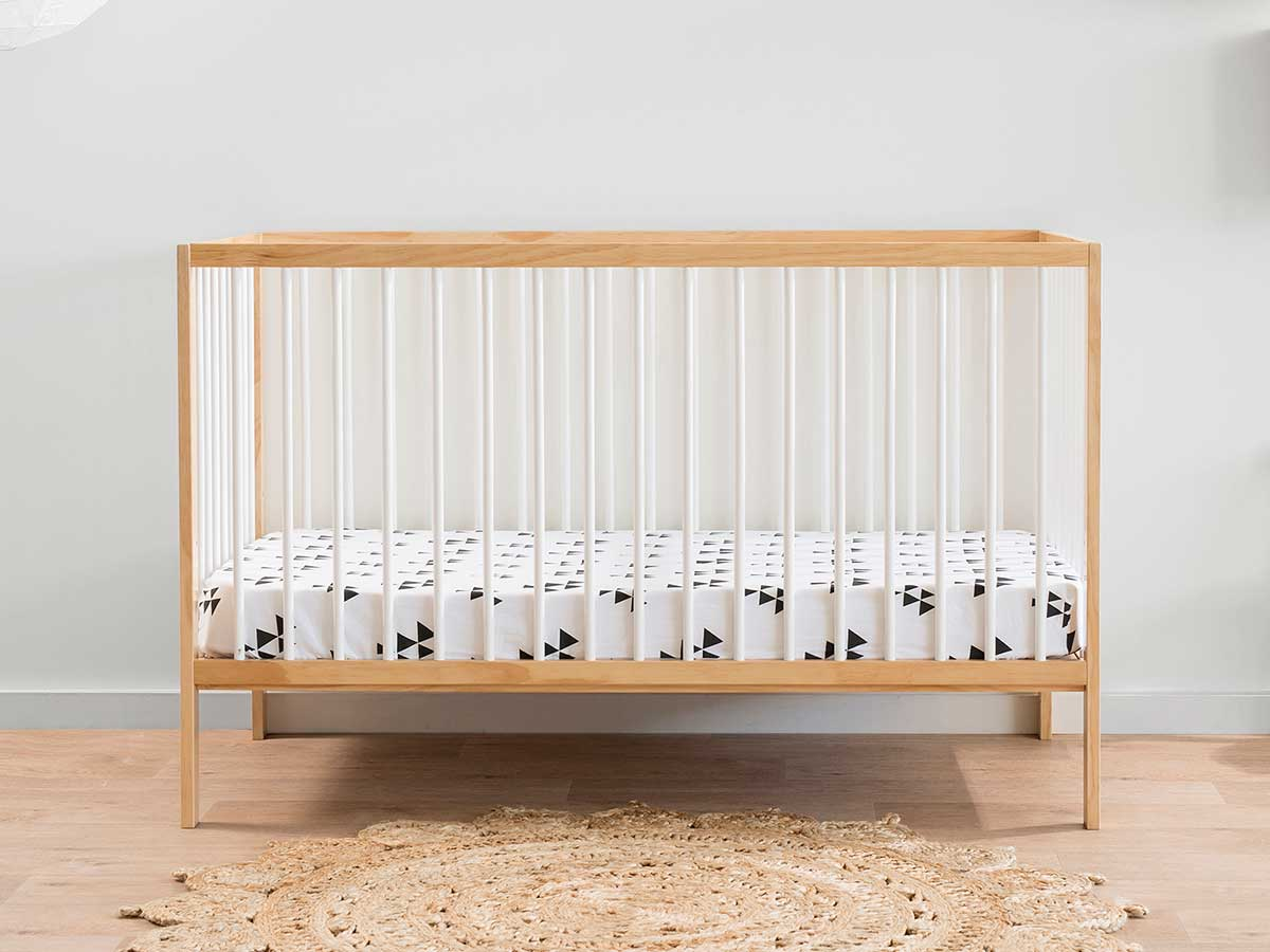 Darby Cot – Natural/White