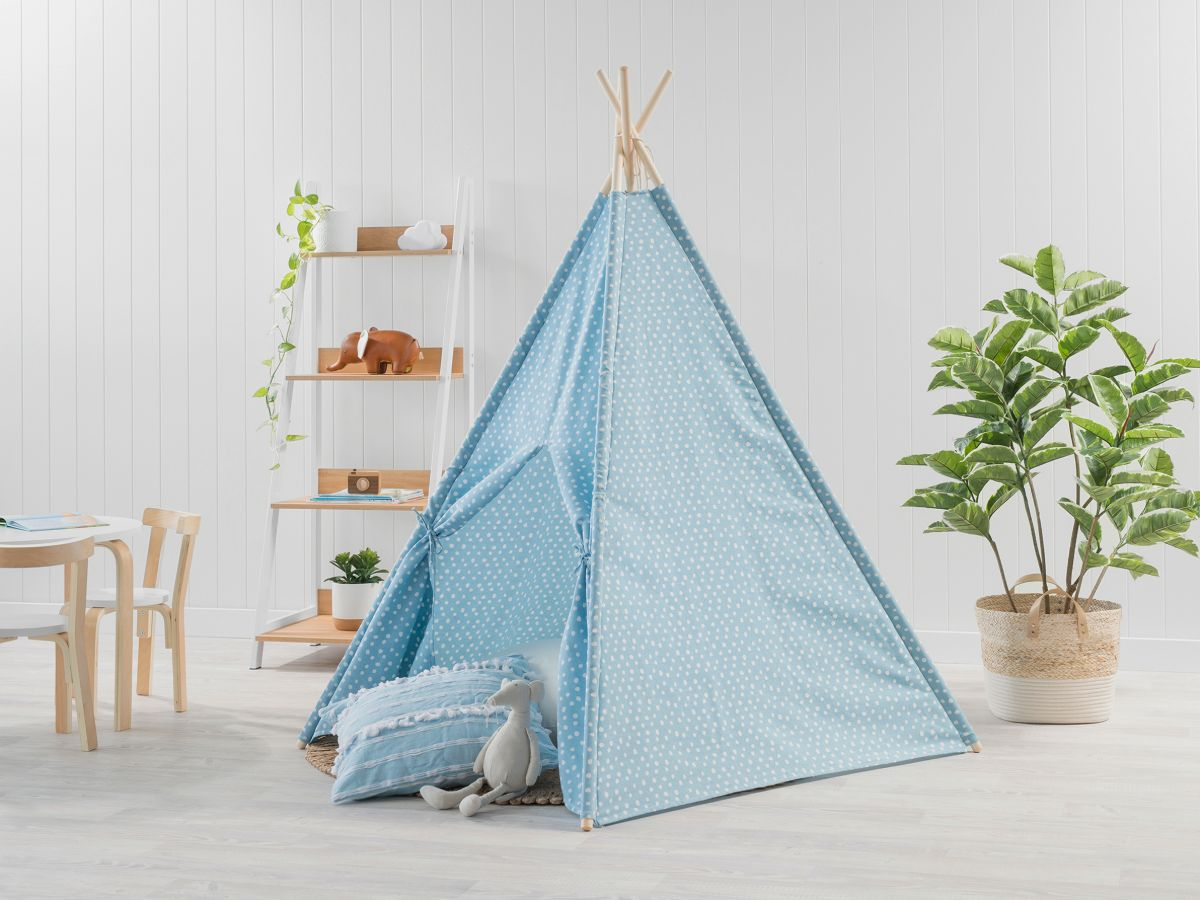 Spots Teepee - Light Blue