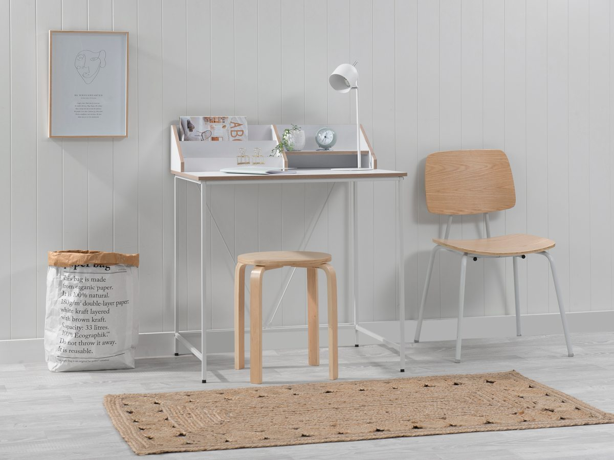 Toby Desk - White/Natural