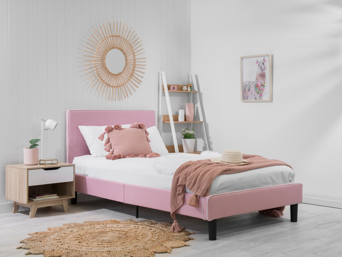 Darcy Bed - King Single - Pink