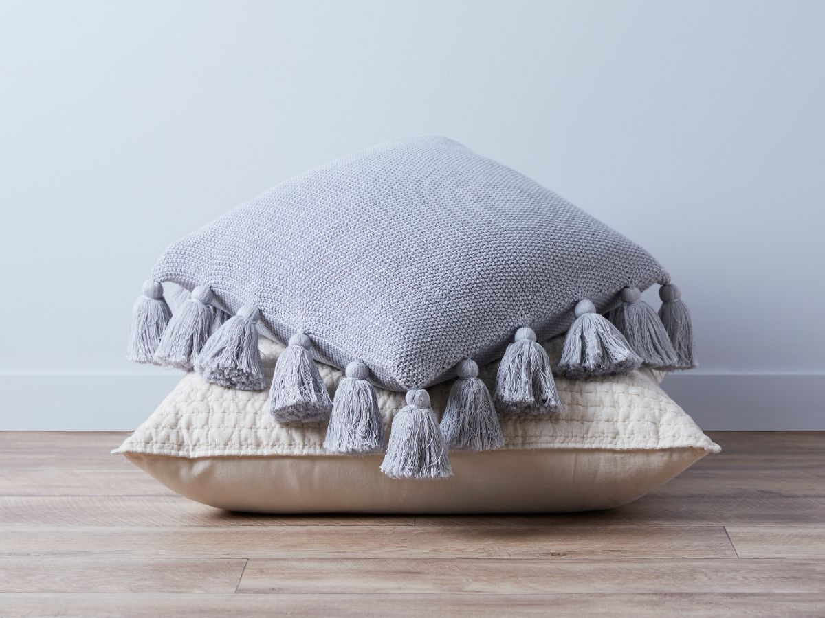 Clementine Cushion Cover - Grey