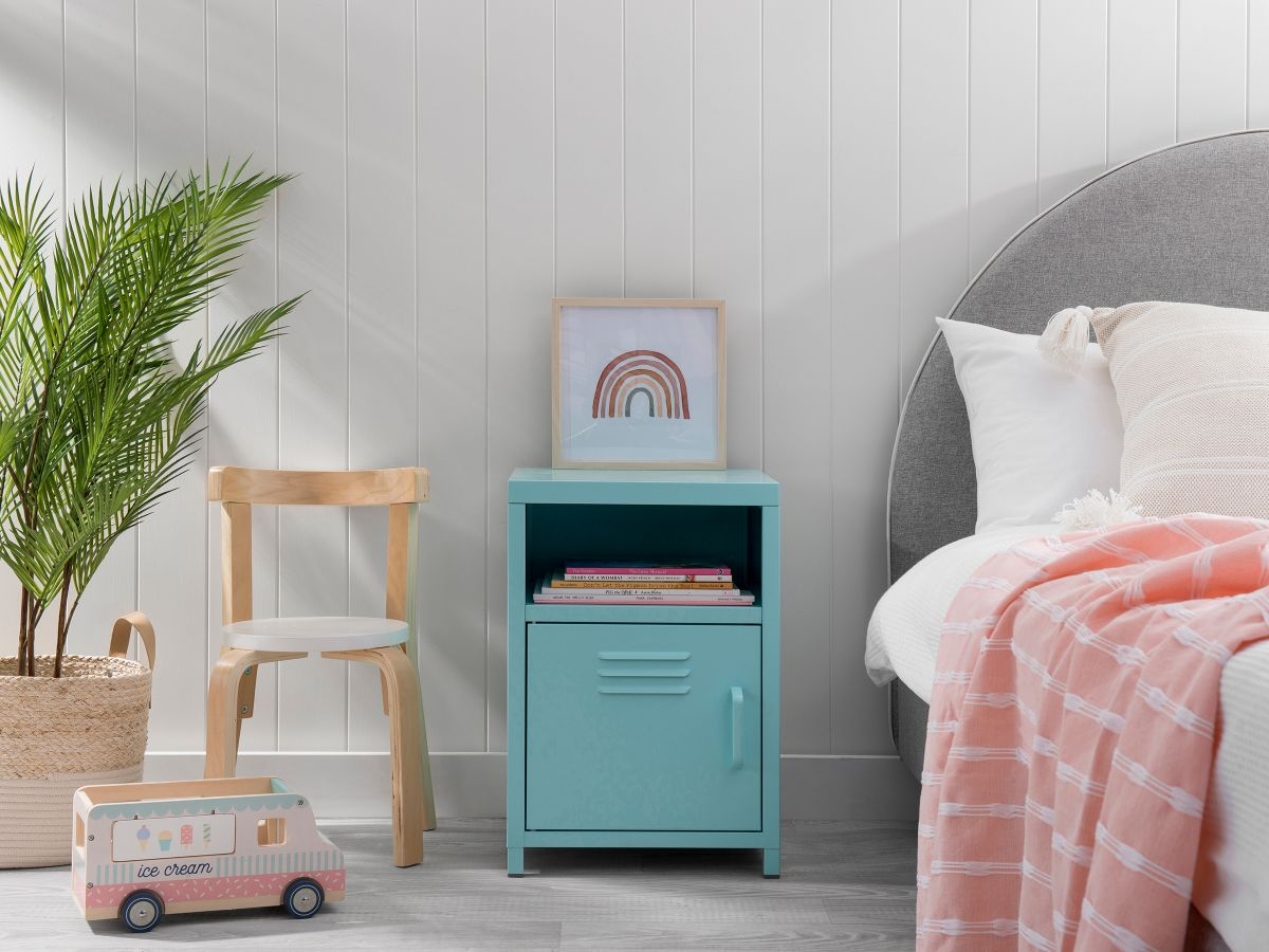 Locka Bedside Table - Mint