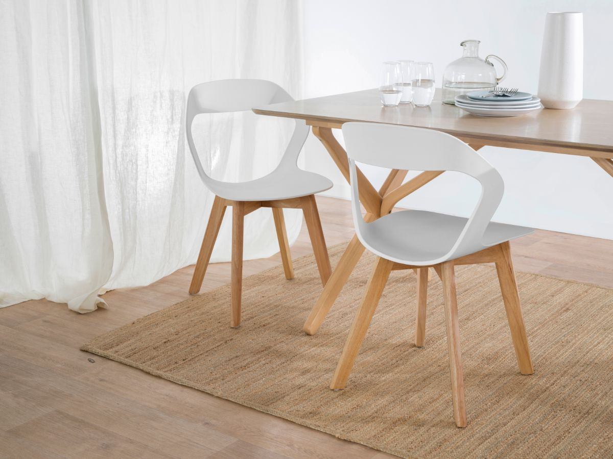 Jasper Dining Chair - White/Light