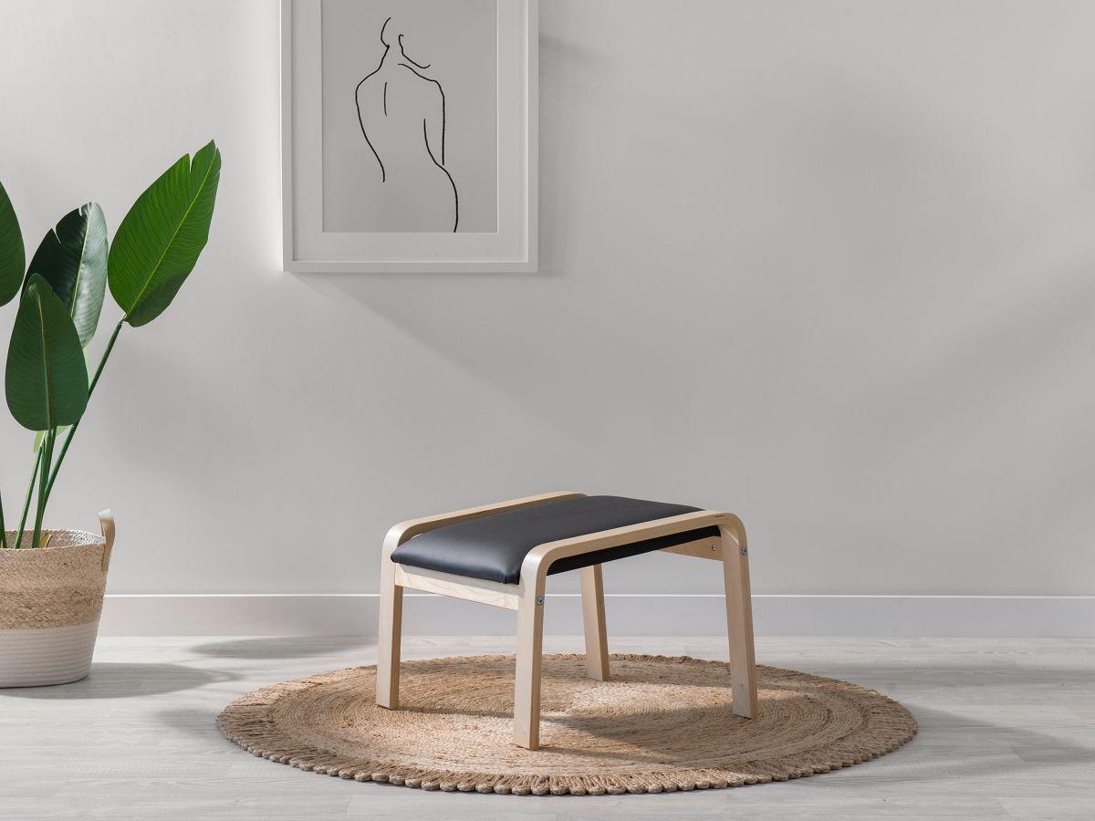 Asta Luxe Footstool - Black
