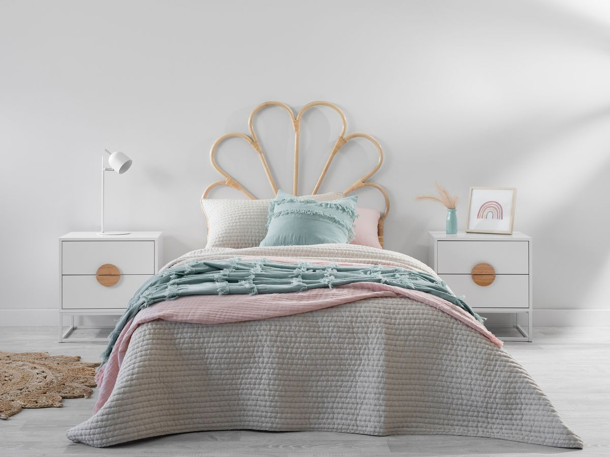 Fleur Rattan Single Bedhead