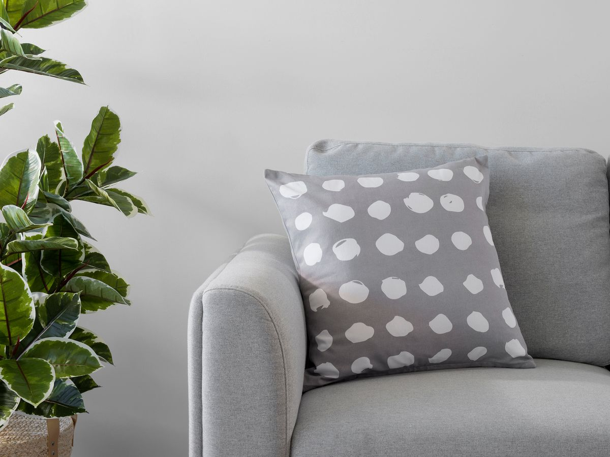 Claire Spot Cushion Cover - Grey