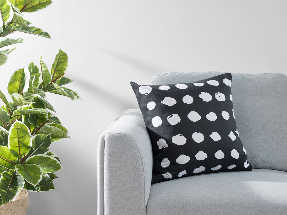 Claire Spot Cushion Cover - Black