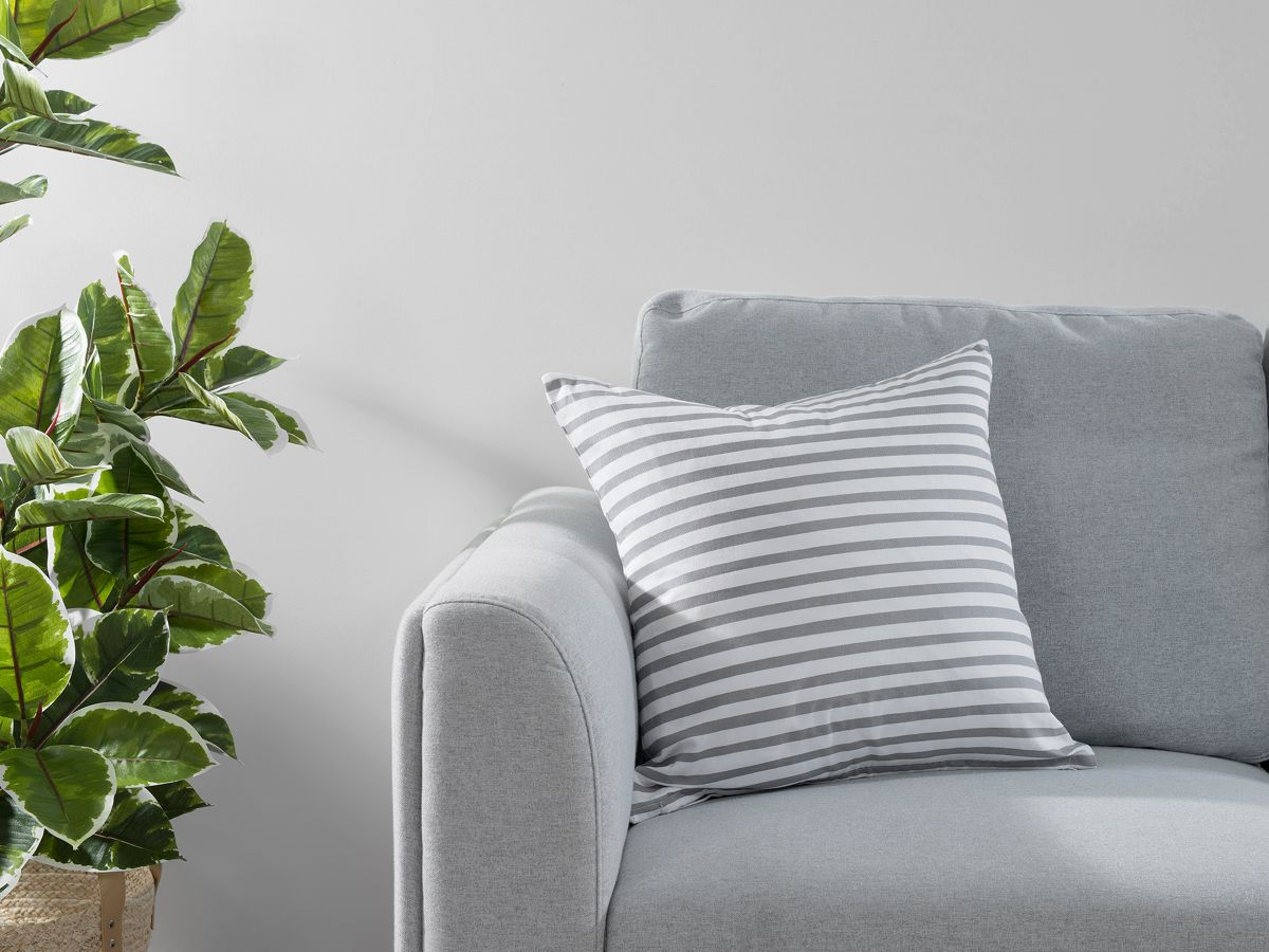 Manning Stripe Cushion Cover - Grey