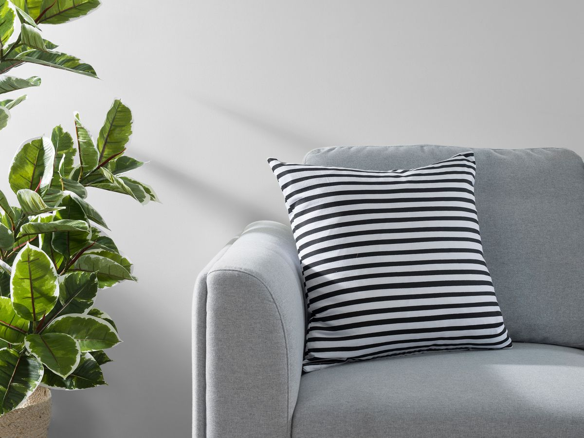 Manning Stripe Cushion Cover - Black