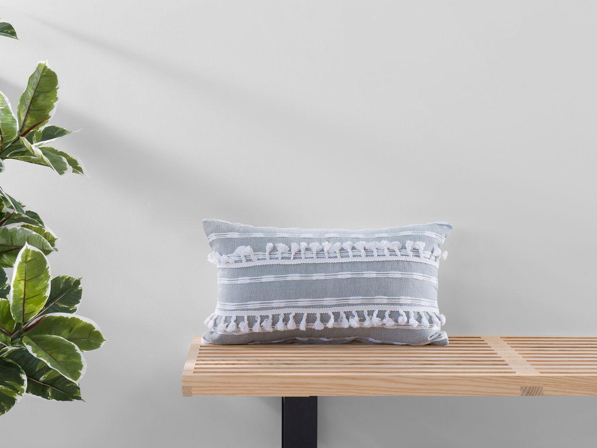 Bria Cushion Cover - Oblong - Grey