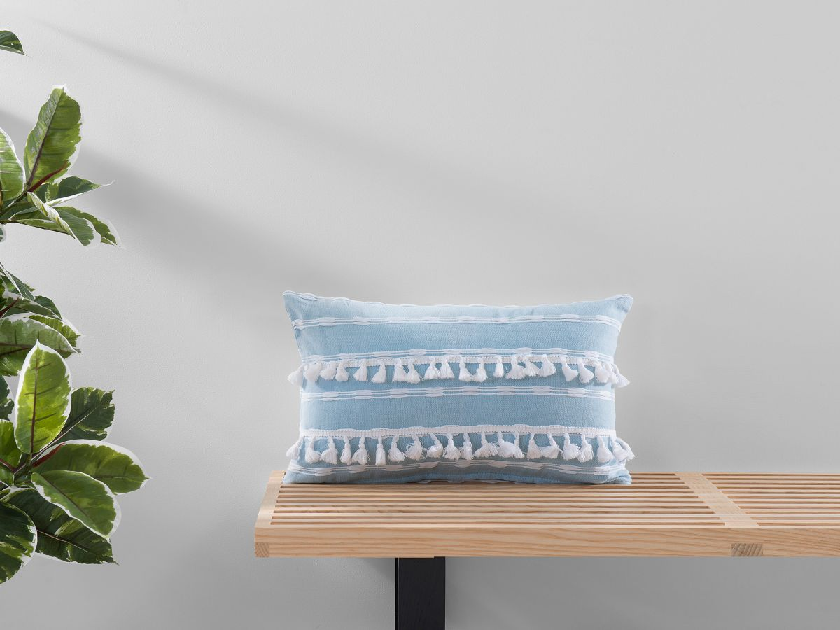 Bria Cushion Cover - Oblong - Blue