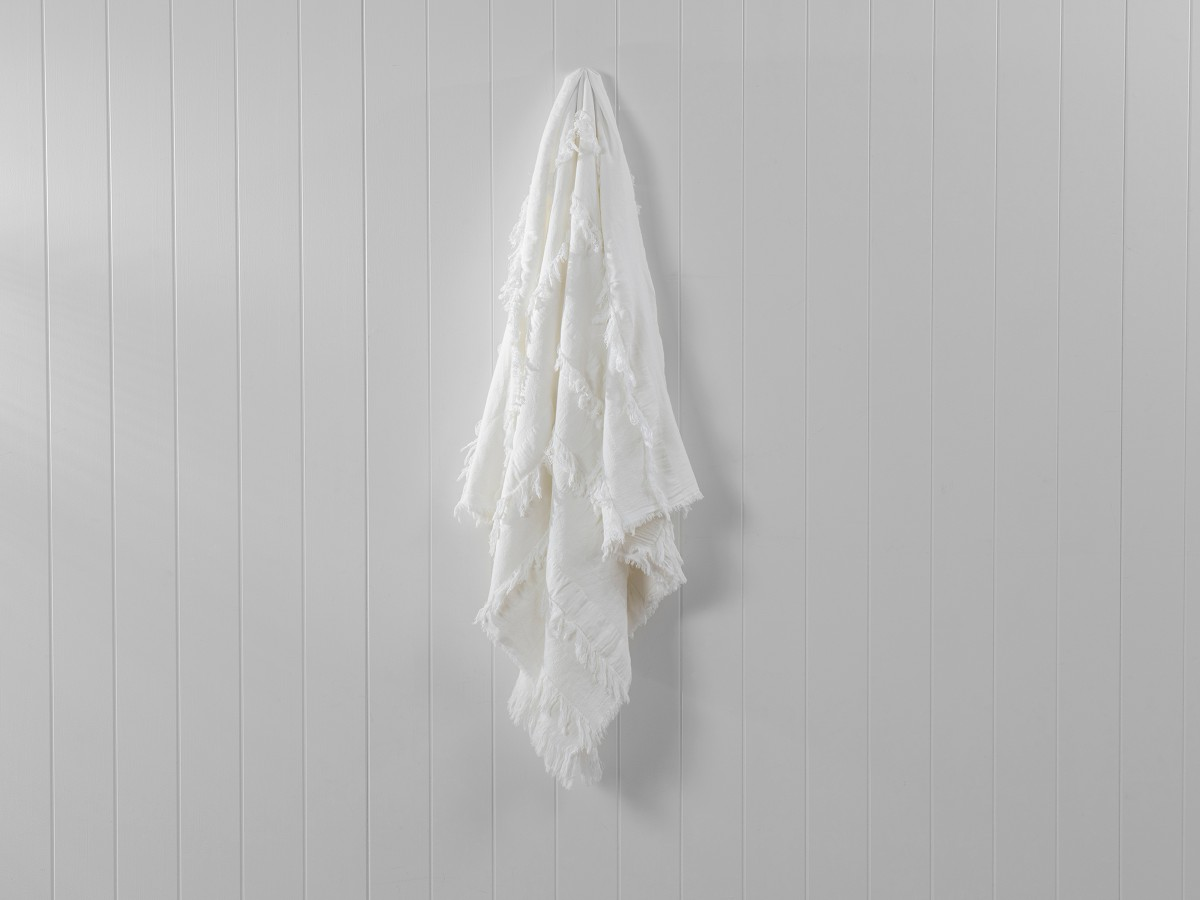 Isabella Throw - White