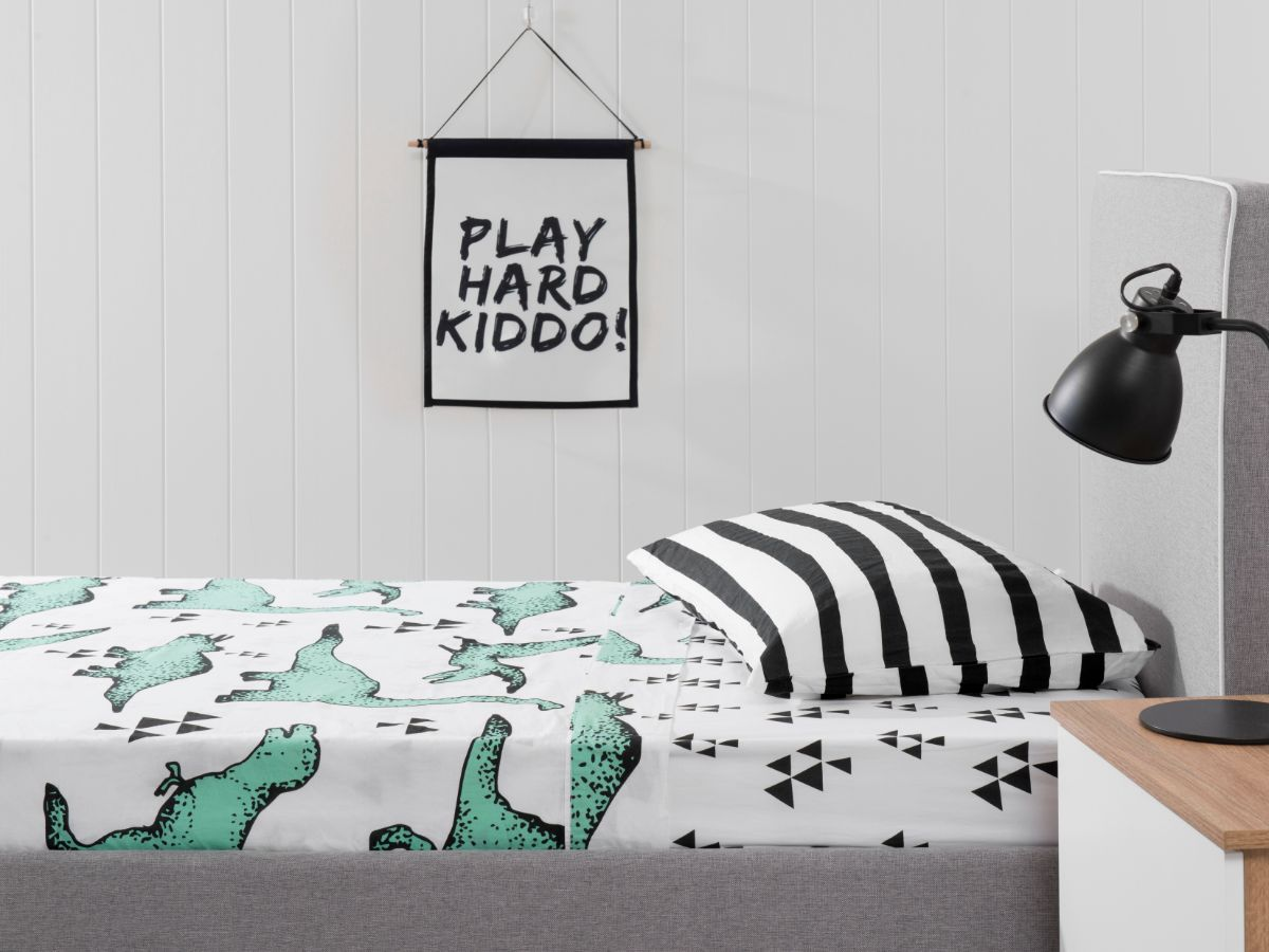 Dinosaur and Stripes Sheet Set